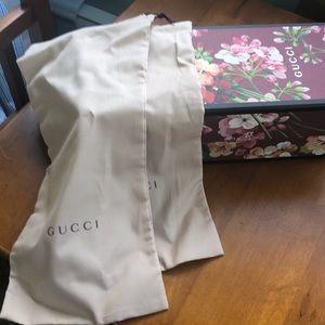 Gucci shoe box and 2 Gucci shoe bags